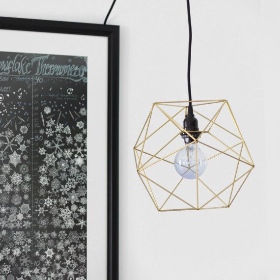 Himmeli Orb Lamp / Modern Accent Swag Lamp / Fabric by HRUSKAA, $150.00 - jk found this one, but i dont like the light kit very much :-/