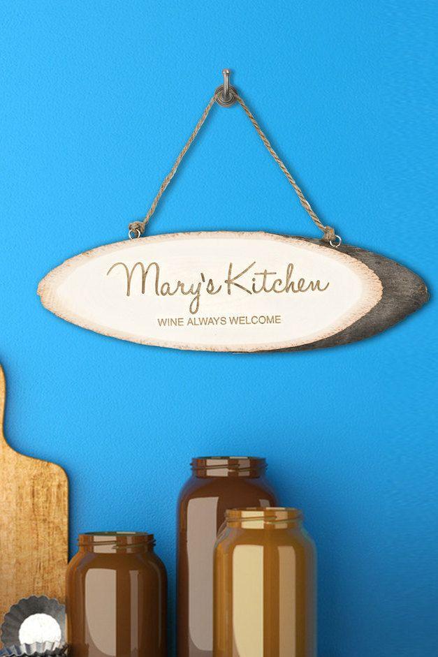 Personalised Handwritten Kitchen Sign - Birthday Gift - Kitchen Door Hanger by KiddiClub on Etsy