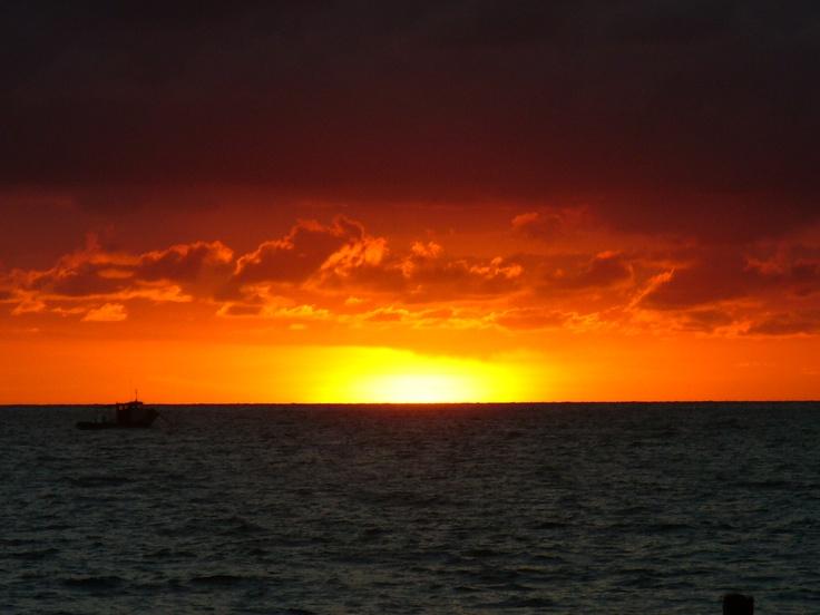 Typical Sunset In San Andres Island~ Colombia.