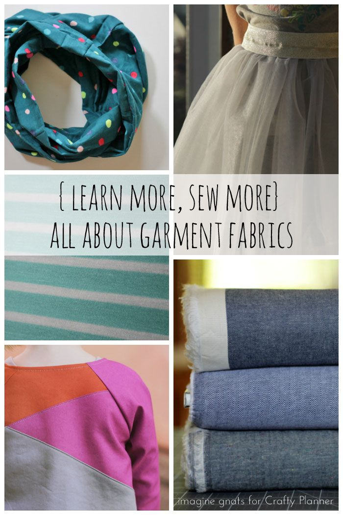 Most quilters buy exclusively quilting cottons for their quilts.  With garments, there is a huge variety of choices.  Similar to the overwhelming feeling of choosing interfacing, fabric choices for garments is a whole new world.  Thankfully, Rachael from imagine gnats is here to share some information about types of fabric commonly used for garment sewing. Take it …