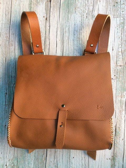 Mochila de cuero bolsa de mensajero / bolsa por proyecto54 en Etsy