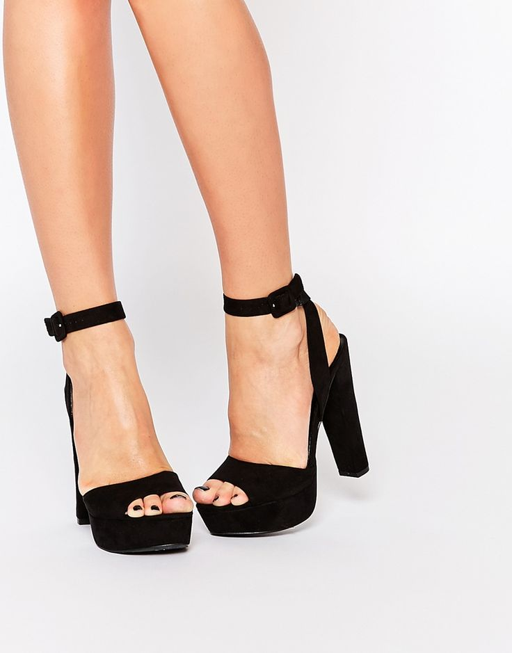Image 1 of Call It Spring Bosetti Black Platform Heeled Sandals