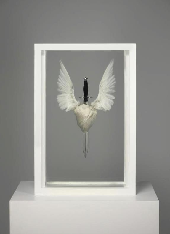 Damien Hirst - let your heart soar like a bird ? Well life may have other plans for you !!!