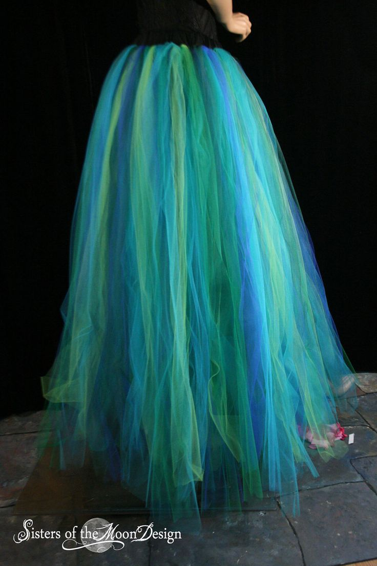 Adult tutu skirt Streamer floor length formal bridal mermaid halloween costume prom wedding --Small -- Ready to ship -- Sisters of the Moon