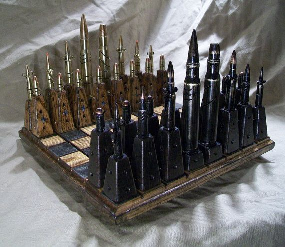 NATO vs SOVIET  Bullet Chess Set MIXED Calibers by OldeWorldCC, $585.00