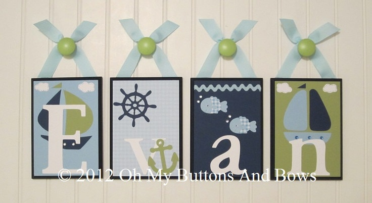 Baby Name Blocks . ROUTED EDGE . Name Blocks . Nursery Name Blocks . Nursery Decor . Wood Name Blocks . Bedding . M2M Zachary . Nautica Kids. $14.00, via Etsy.