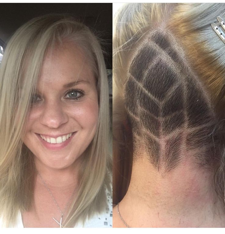 "Midori Client Selfie, with a undercut by Chantal. ""Always an amazing experience."" - Daphne Fitzgerald."