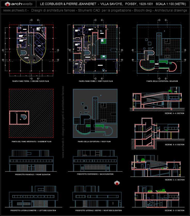 Villa Savoye Plan Dwg