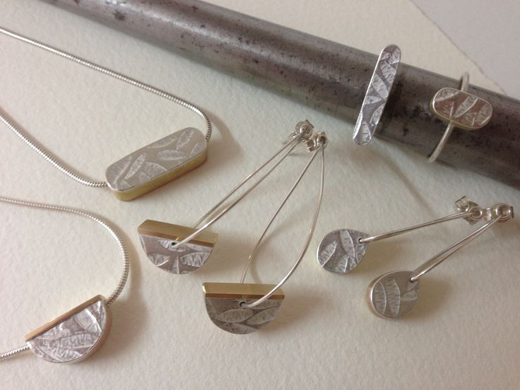 embossed fine silver 'petals' collection by papermetal https://www.facebook.com/papermetal