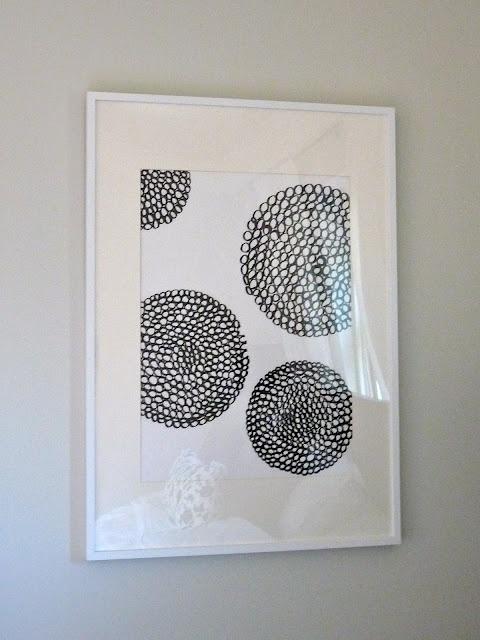 Easy, cheap art.  Small circles to make big circles.