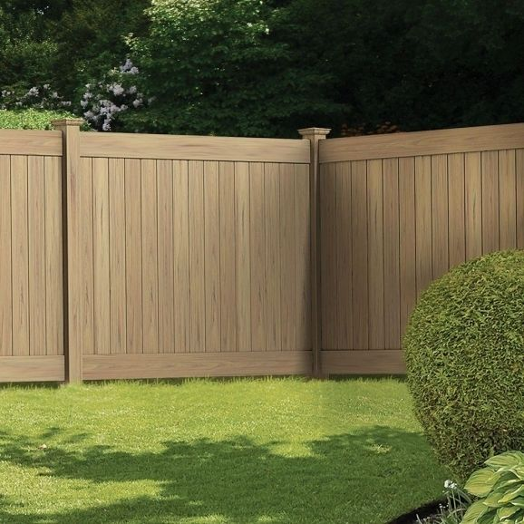 4x8 wood fence panels home depot spaced picket vinyl fence for Depot linden