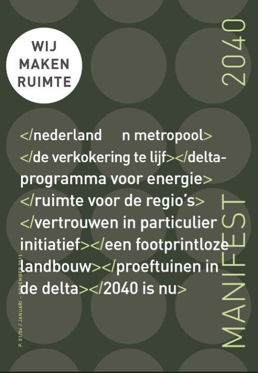 Jaar van de Ruimte - Manifest2040