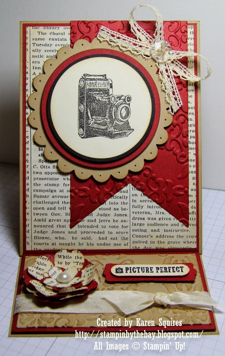 Stampin' By The Bay: Traveler Easel Card
