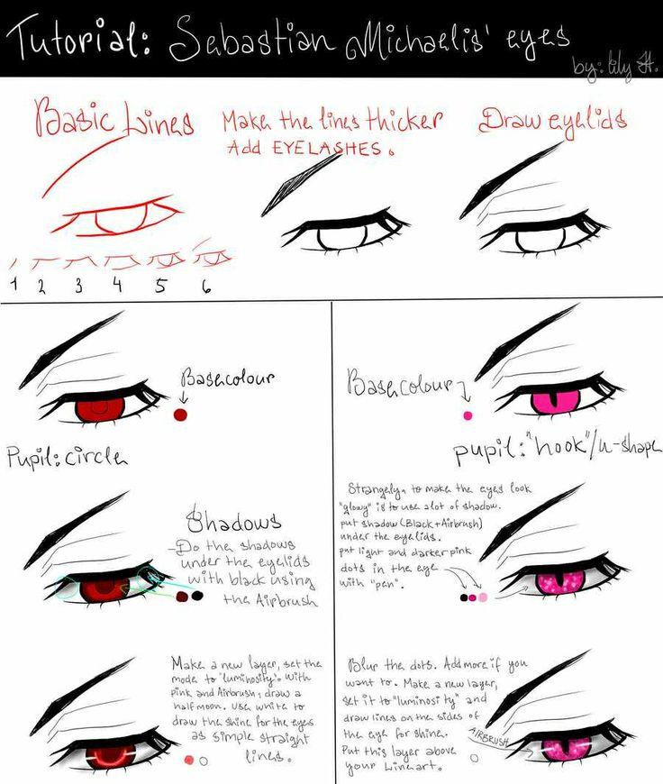 Scribble Drawing Tutorial : Sebastian s eye blackbutler tutorial drawing ideas