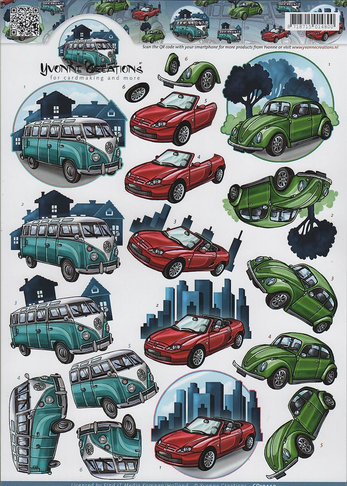 Classic cars deoupage