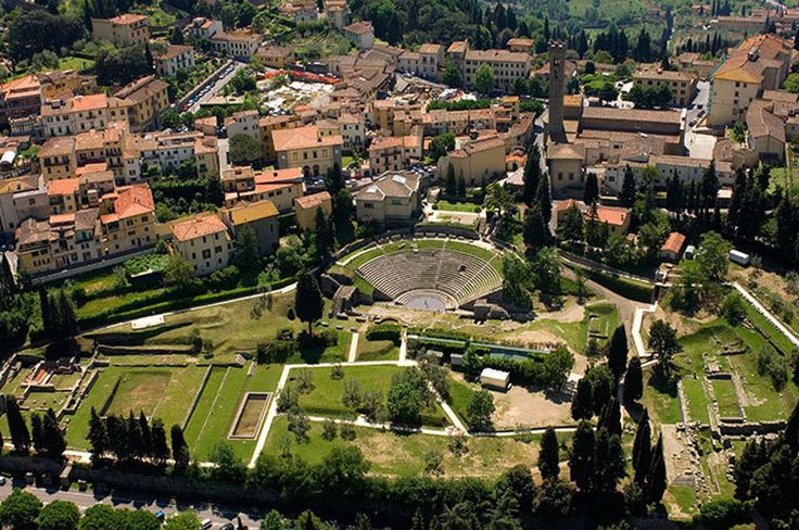 Fiesole, overview of town with a Roman Theater
