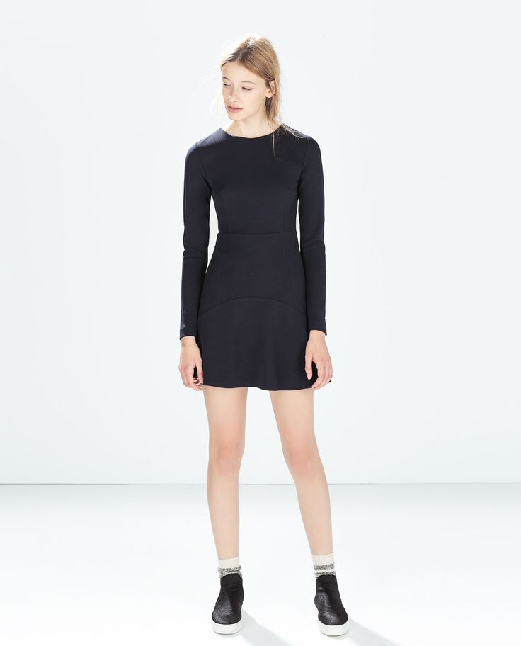Image 1 of DRESS WITH LAYERED SKIRT from Zara