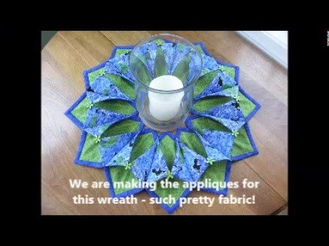 Fold'n Stitch Wreath - Applique Prep Steps - YouTube