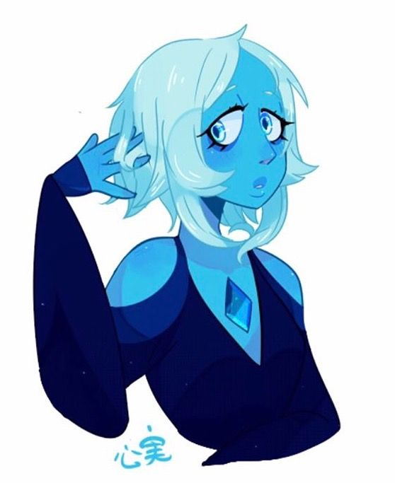 Blue diamond with short hair <3