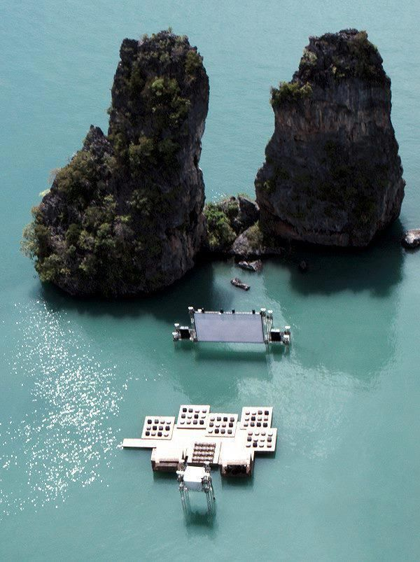 Archipelago 'floating' Cinema, Thailand #architecture