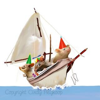 Mice boat illustration  http://cindyheijkoop.blogspot.com/