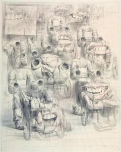 "Zdeněk Beran drawing - ,,study I."""
