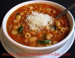 Sopa de granos y pasta | Recetas de Comidas