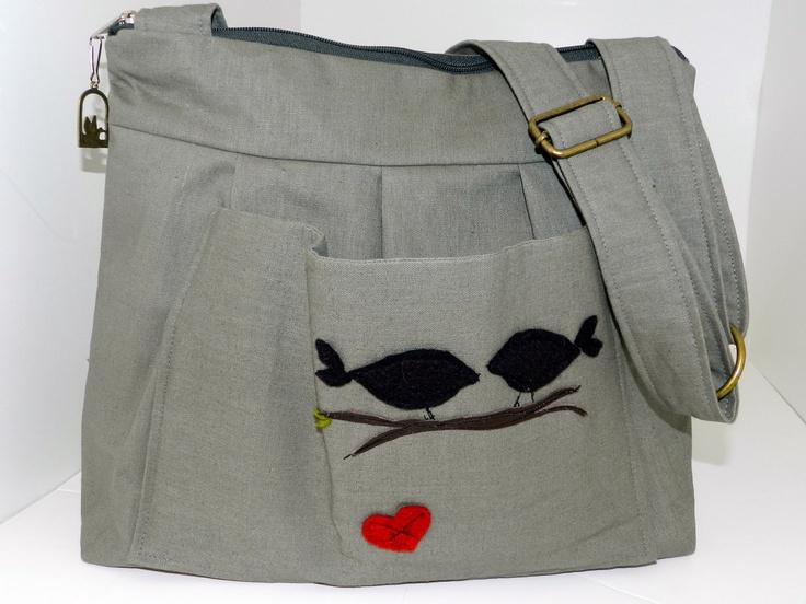 Linen Purse, zipper top in Cement Linen// LoveBirds Applique// womens// messenger/ diaper bag/ by Darby Mack. $79.00, via Etsy.Dslr Pur, Diapers Bags, Bags Slr, Darby Macke, Cameras Bags, Cement Linens, Linens Pur, Camera Bags, Leather Dslr