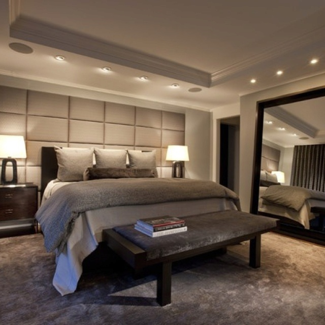 Huge Lamps For Bedroom. contemporary bedroom by Michael Abrams Limited  Love the modern design in this with romantic lighting LOVE huge headboard wall and 60 best Recessed images on Pinterest Arquitetura For