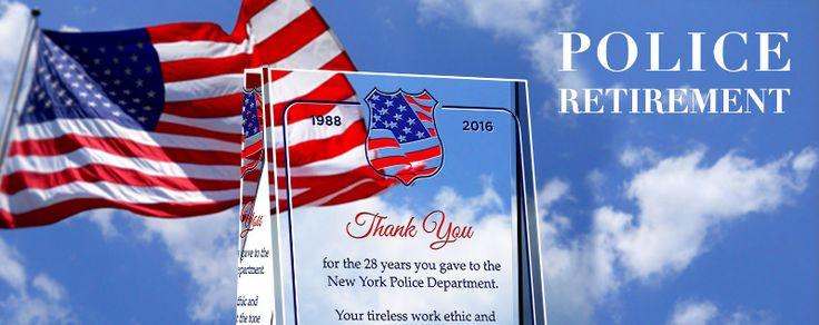 Unique Police Retirement Plaques & Wording Samples #Police ...