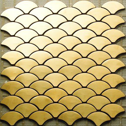 Gold Stainless Steel Mosaic Tile.