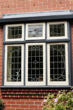 Federation Style window with Art Nouveau influences
