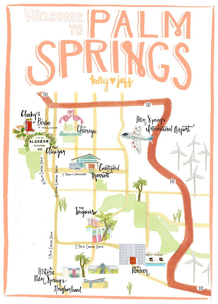 OLD SCHOOL RESTAURANTS MAP BY KATE WONG