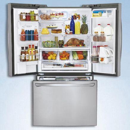 Lg 25 Cu Ft 3 Door French Door Refrigerator Sears