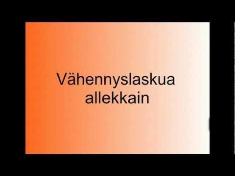 ▶ Vähennyslaskua allekkain - YouTube kymmenistä lainaaminen 2. lk (video 4:17).