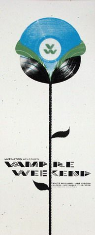 Vampire Weekend Concert Poster by Andy Vastagh