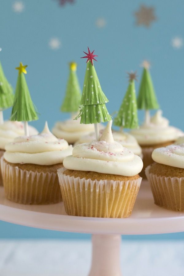 Cupcake Liner Tree Toppers DIY   Oh Happy Day!