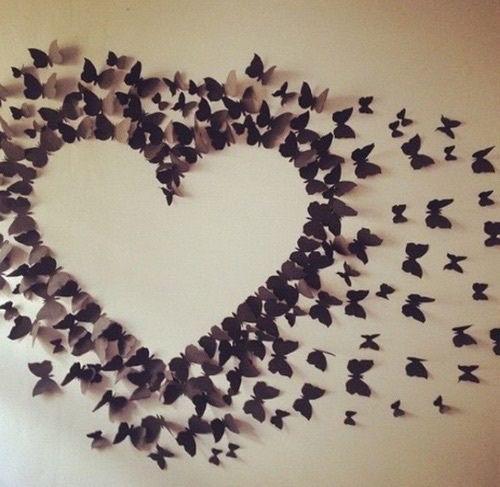 Las 25 mejores ideas sobre dise o de habitaci n femenina - Como hacer mariposas de papel para decorar paredes ...