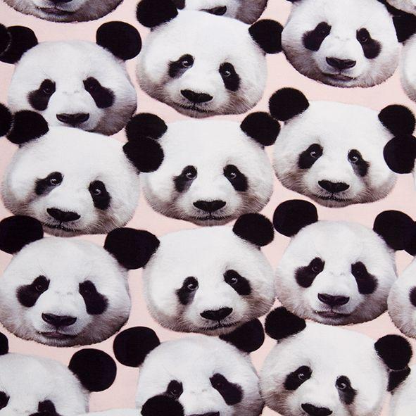 Bavlněný úplet panda, digitální tisk