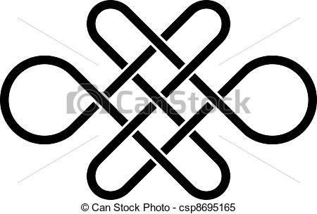 Vector - vector endless celtic knot - stock illustration, royalty free illustrations, stock clip art icon, stock clipart icons, logo, line art, EPS picture, pictures, graphic, graphics, drawing, drawings, vector image, artwork, EPS vector art