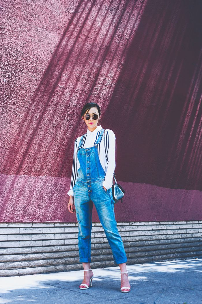Free_people_overalls_givenchy_Pandora_box_theory_white_blouse_striped_Chriselle_Lim_1