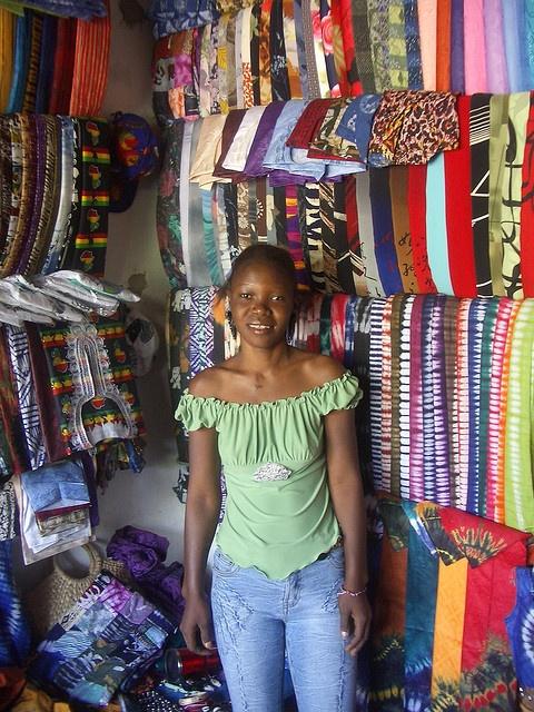Market stall in Kololi, Gambia