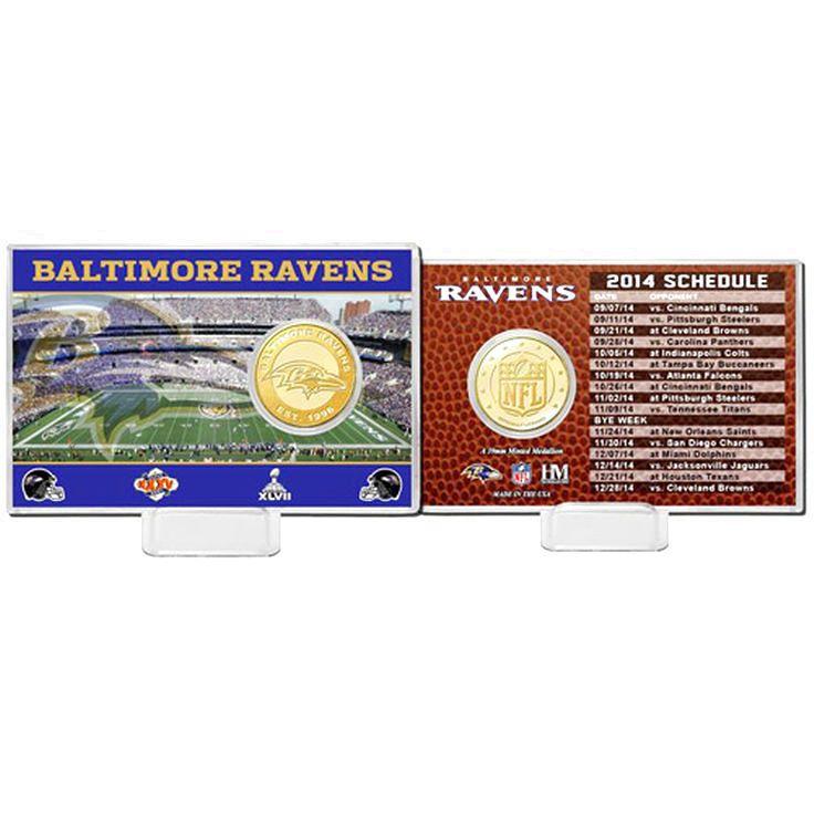 Baltimore Ravens Highland Mint Schedule Coin Card - $14.99