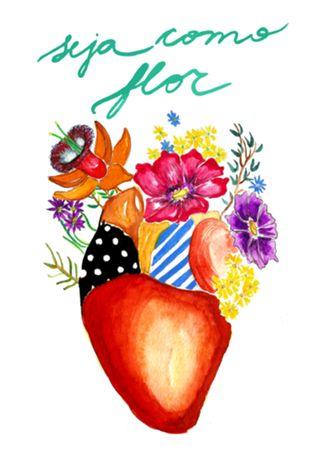 """""""Seja Como Flor"""" de @mariela em posters de alta qualidade. Incentive artistas independentes!"""