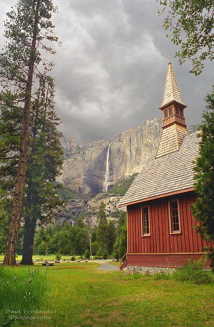Man's Church and God's Church at Yosemite National Park, California