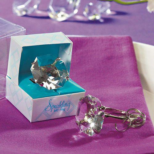 Novelty Diamond Key Chain in Gift Favor Box