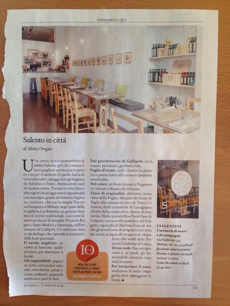 I Salentini Via Solferino, 44 Milano facebook.com/isalentini  --> da provare