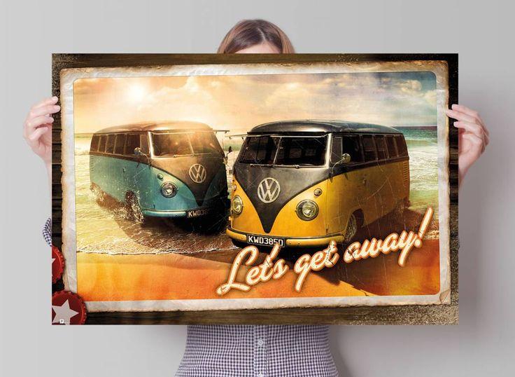 Volkswagen busje prent   Poster   REINDERS!