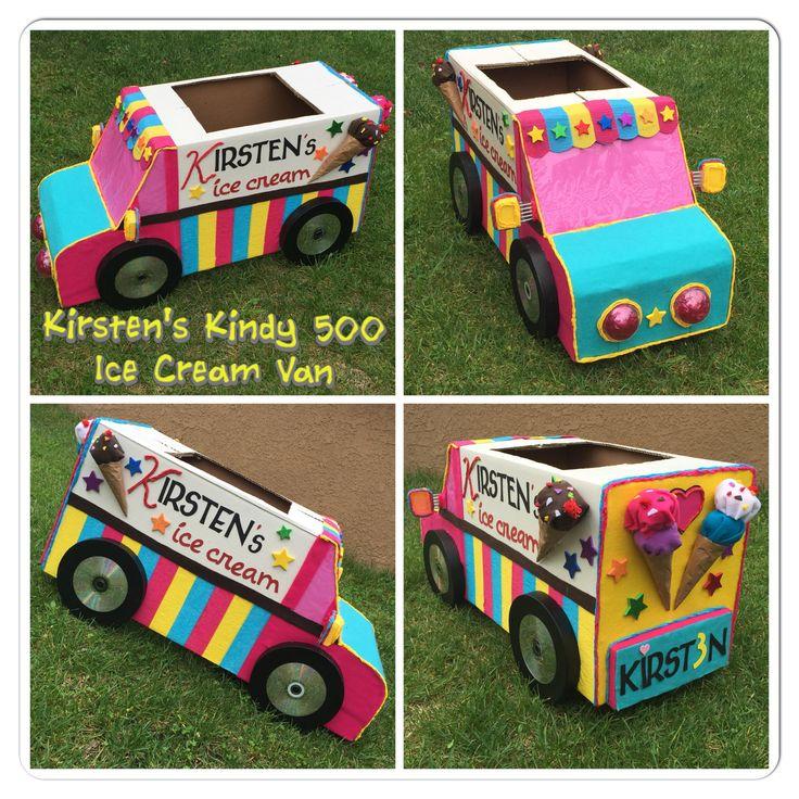 Kindy 500 Cardboard Ice Cream Van By Melissa L.