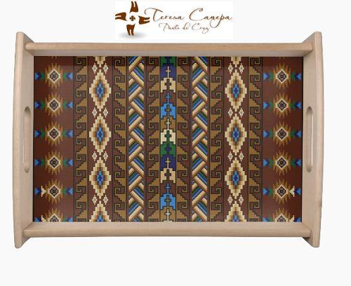 ✄ Fondo para Bandeja  bordada a Punto de Cruz. Tu Eliges El Diseño y Las Medidas !!!... Yo Te Hago el Patrón ! http://puntocruzandino.weebly.com/